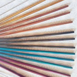 pailles inox couleur