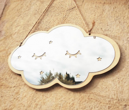 miroir nuage bois 2