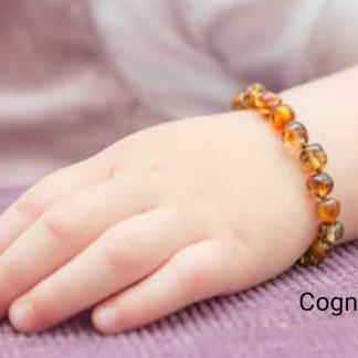 bracelet-ambre-mellune-bébé-cognac