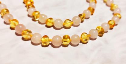 parure-ambre-quartz-rose-mellune